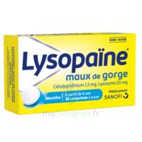 LysopaÏne Comprimés à Sucer Maux De Gorge Sans Sucre 2t/18 à MONTEREAU-FAULT-YONNE