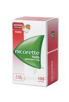 Nicorette 2 mg Gomme à mâcher médicamenteuse sans sucre fruits Plq/105 à MONTEREAU-FAULT-YONNE