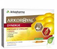 Arkoroyal Dynergie Ginseng Gelée royale Propolis Solution buvable 20 Ampoules/10ml à MONTEREAU-FAULT-YONNE