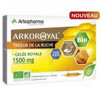 Arkoroyal Gelée Royale Bio Sans Sucre 1500mg Solution Buvable 20 Ampoules/10ml à MONTEREAU-FAULT-YONNE