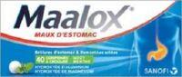 MAALOX HYDROXYDE D'ALUMINIUM/HYDROXYDE DE MAGNESIUM 400 mg/400 mg Cpr à croquer maux d'estomac Plq/40 à MONTEREAU-FAULT-YONNE