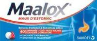 MAALOX MAUX D'ESTOMAC HYDROXYDE D'ALUMINIUM/HYDROXYDE DE MAGNESIUM 400 mg/400 mg SANS SUCRE FRUITS ROUGES, comprimé à croquer édulcoré à la saccharine sodique, au sorbitol et au maltitol à MONTEREAU-FAULT-YONNE