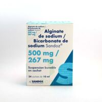 ALGINATE DE SODIUM/BICARBONATE DE SODIUM SANDOZ 500 mg/267 mg, suspension buvable en sachet à MONTEREAU-FAULT-YONNE