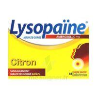 LysopaÏne Ambroxol 20 Mg Pastilles Maux De Gorge Sans Sucre Citron Plq/18 à MONTEREAU-FAULT-YONNE