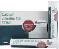 CALCIUM VITAMINE D3 TEVA 500 mg/400 UI, comprimé à sucer ou à croquer à MONTEREAU-FAULT-YONNE