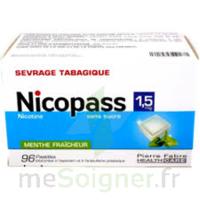 Nicopass 1,5 mg Pastille sans sucre menthe fraîcheur Plq/96 à MONTEREAU-FAULT-YONNE