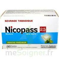 Nicopass 2,5 mg Pastille menthe fraîcheur sans sucre Plq/96 à MONTEREAU-FAULT-YONNE