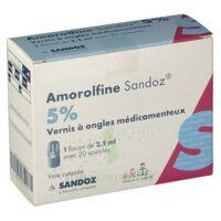 Amorolfine Sandoz 5 % V Ongles Médicamenteux Fl/2,5ml+20spatules à MONTEREAU-FAULT-YONNE