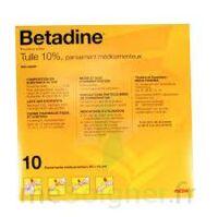Betadine Tulle 10 % Pans Méd 10x10cm 10sach/1 à MONTEREAU-FAULT-YONNE