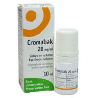 Cromabak 20 Mg/ml, Collyre En Solution à MONTEREAU-FAULT-YONNE