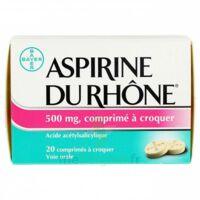Aspirine Du Rhone 500 Mg, Comprimé à Croquer Film Thermos/20 à MONTEREAU-FAULT-YONNE