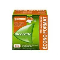 Nicorette 2 Mg Gomme à Mâcher Médicamenteuse Sans Sucre Fruits Plq/210