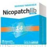 NICOPATCHLIB 14 mg/24 h Dispositifs transdermiques B/28 à MONTEREAU-FAULT-YONNE
