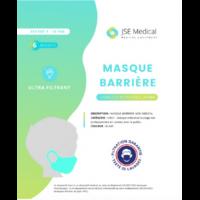 Masque barrière non médical Enfant (4/10 ans) Blancs B/6 à MONTEREAU-FAULT-YONNE