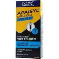 Apaisyl Anti-poux Xpress 15' Lotion Antipoux Et Lente 100ml+peigne à MONTEREAU-FAULT-YONNE