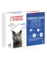 Fiprokil Duo 50mg/60mg Solution pour spot-on chat moins de 4kg 4 Pipettes/0,5ml à MONTEREAU-FAULT-YONNE