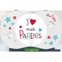 Luc Et Léa Sucette Symétrique +18mois J'aime Mes Parents à MONTEREAU-FAULT-YONNE