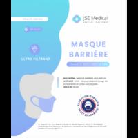 Masque barrière non médical Adulte Blancs B/6 à MONTEREAU-FAULT-YONNE