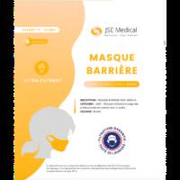 Masque barrière non médical Enfant (11/16 ans) Blancs B/6 à MONTEREAU-FAULT-YONNE