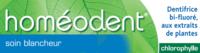 Boiron Homéodent Soin Blancheur Pâte Dentifrice Chlorophylle 2T/75ml à MONTEREAU-FAULT-YONNE