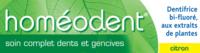 Boiron Homéodent Soin Complet Dents et Gencives Pâte Dentifrice Citron T/75ml à MONTEREAU-FAULT-YONNE